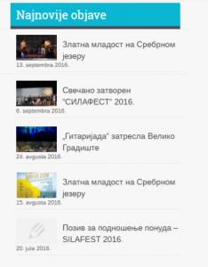 Site Recent Posts widget