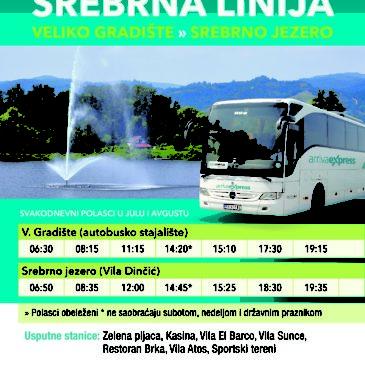 Tokom leta Arriva vozi od Velikog Gradišta do Srebrnog jezera Током лета Arriva вози од Великог Градишта до Сребрног језера